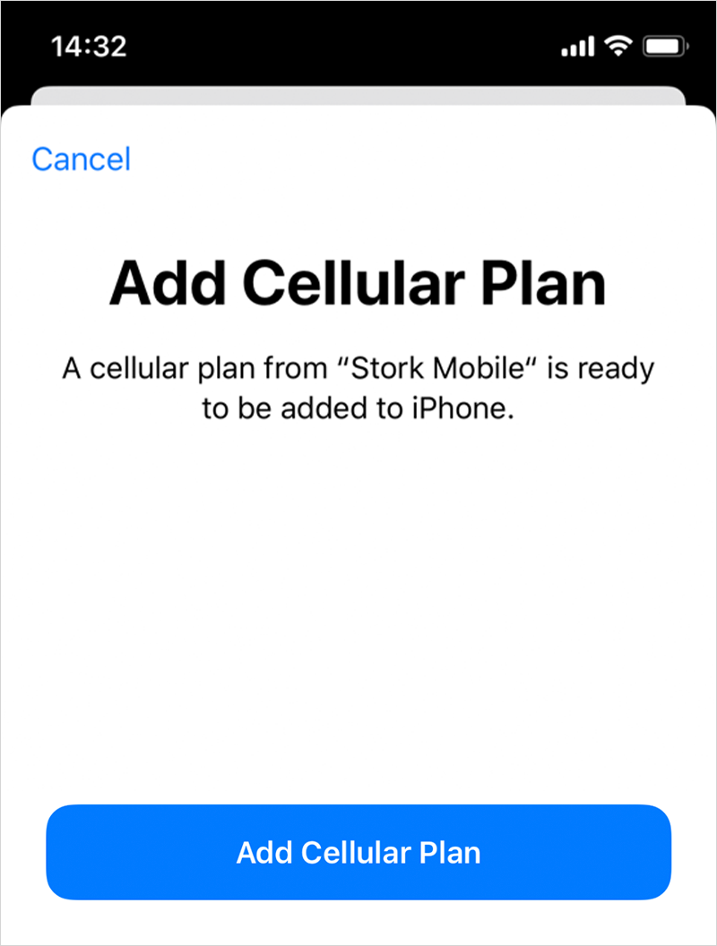 Tap <span class='ts-italic'>Add Cellular Plan</span>